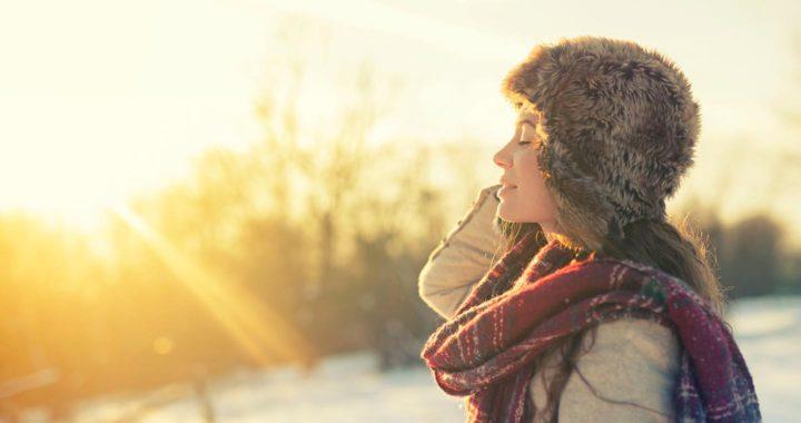 female winter sun