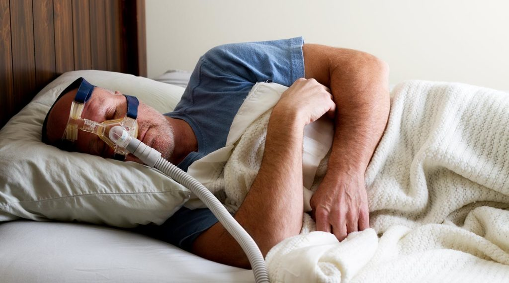 sleeping with cpap machine