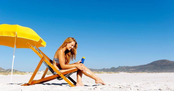 suncream at the beach
