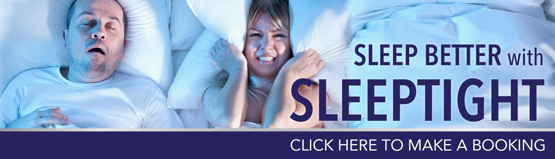 SleepTight quit snoring banner