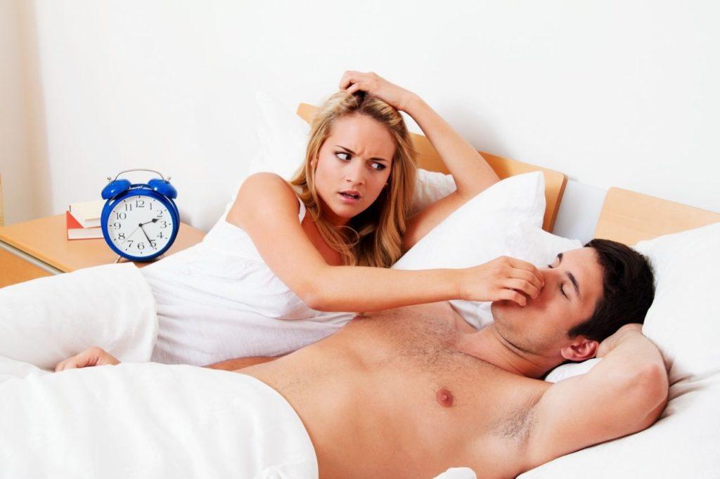 Man with sleep apnoea