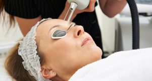 Cosmetic laser dermatology procedure