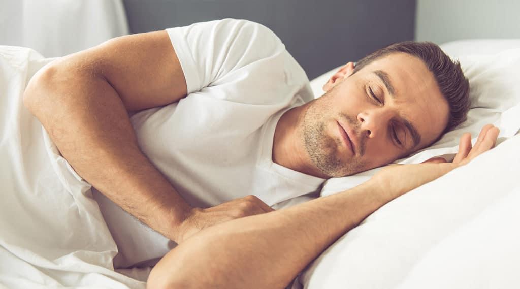 sleeping male