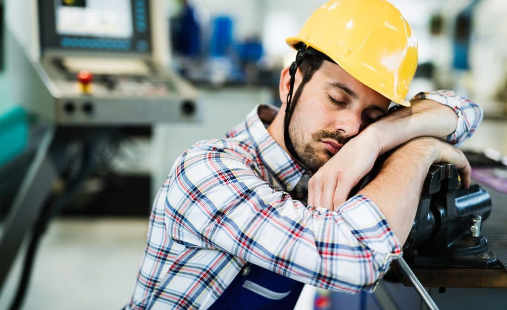 tired worker